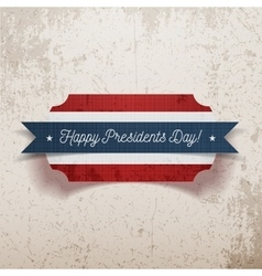 Banner Template with Happy Presidents Day Text vector