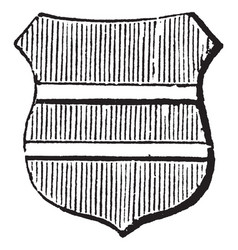 barrulet ordinary is half bar barrulet vector image