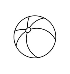 beach ball linear icon on white background vector image