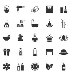 beauty icons on white background vector image