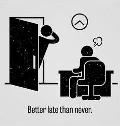 Better late than never a motivational vector