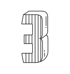 Birthday candle number black and white vector