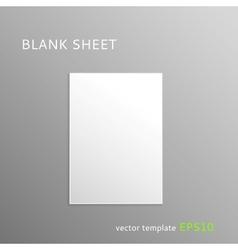 Blank paper sheet vector