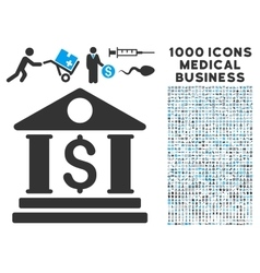 Business Center Icon with 1000 Medical Business vector image