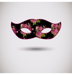 Carnival mask with floral pattern vector image