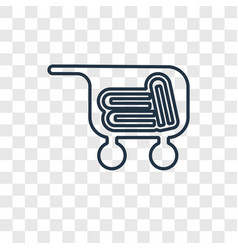 cart with books concept linear icon isolated on vector image