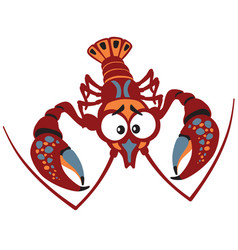 Cartoon crayfish vector