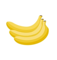 Cartoon yellow bananas vector