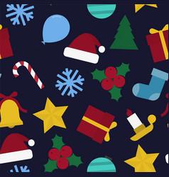 christmas seamless colorful pattern - xmas retro vector image