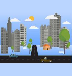 city flat design background vector image