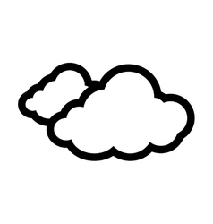 Cloud silhouette isolated icon vector