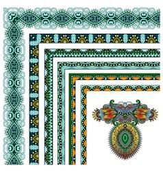 collection of ornamental floral vintage frame vector image