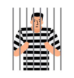 criminal man in jail vector image