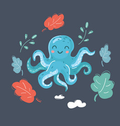 cute cartoon image octopus vector image