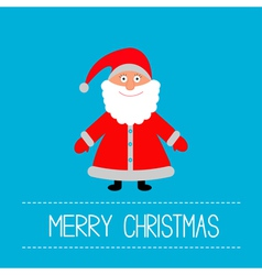 Cute Santa Claus Blue background Merry Christmas vector