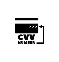 cvv code on credit card flat icon vector image