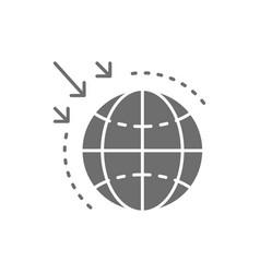 Destruction ozone layer gray icon vector