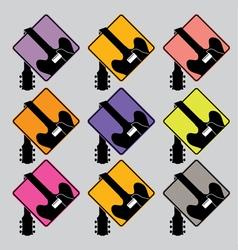 Droop guitar set vector