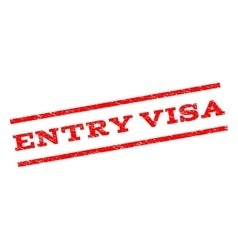 Entry Visa Watermark Stamp vector image