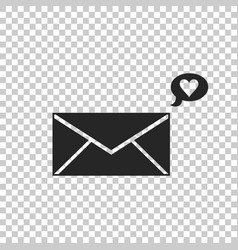 envelope with valentine heart icon message love vector image