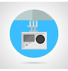 Extreme sport camera flat icon vector