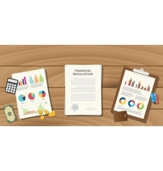 financial regulation with paper work vector image
