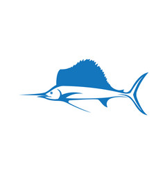 Fish logo template vector