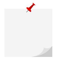 Flat design icon empty white paper vector
