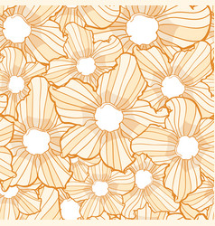 flower seamless pattern flower background texture vector image