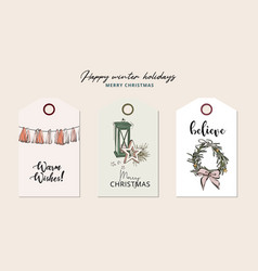 Funny christmas gift wreath and candle with text vector