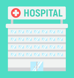 hospital building flat icon medicine vector image