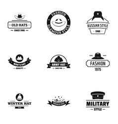 Icecap logo set simple style vector