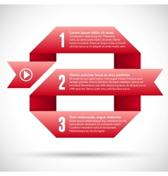Infographic with red ribbon spiral vector image