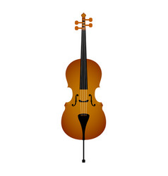 isolated cello musical instrument vector image