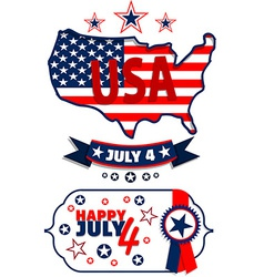 July 4 vector image