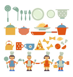 Kids menu set vector