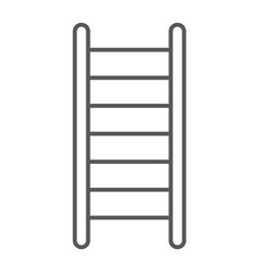 ladder thin line icon stair and climb fire vector image