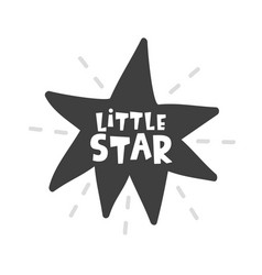 little star scandinavian style childish poster vector image