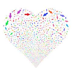 Man person fireworks heart vector