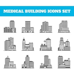 Medical building black vector image