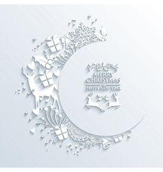 Merry Christmas holiday elements 3D vector image
