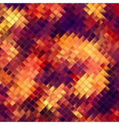 Mosaic orange abstract EPS 10 vector image