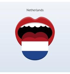 Netherlands language abstract human tongue vector
