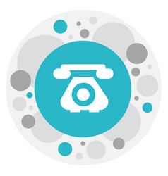 Of phone symbol on antique vector
