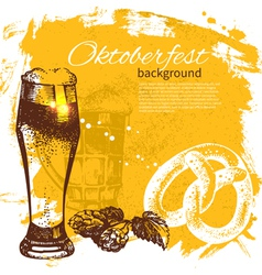 Oktoberfest vintage background vector