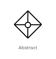 Outline abstract icon isolated black simple line vector