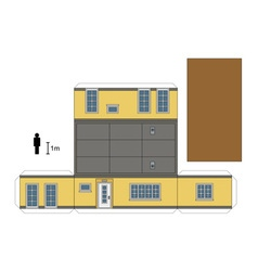Paper model of a low house vector