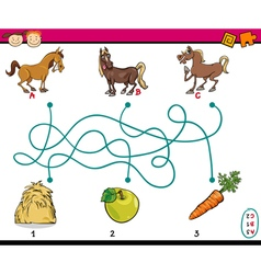 Paths or maze education game vector