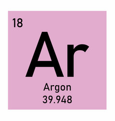 periodic table element argon icon vector image
