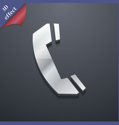 Phone icon symbol 3D style Trendy modern design vector